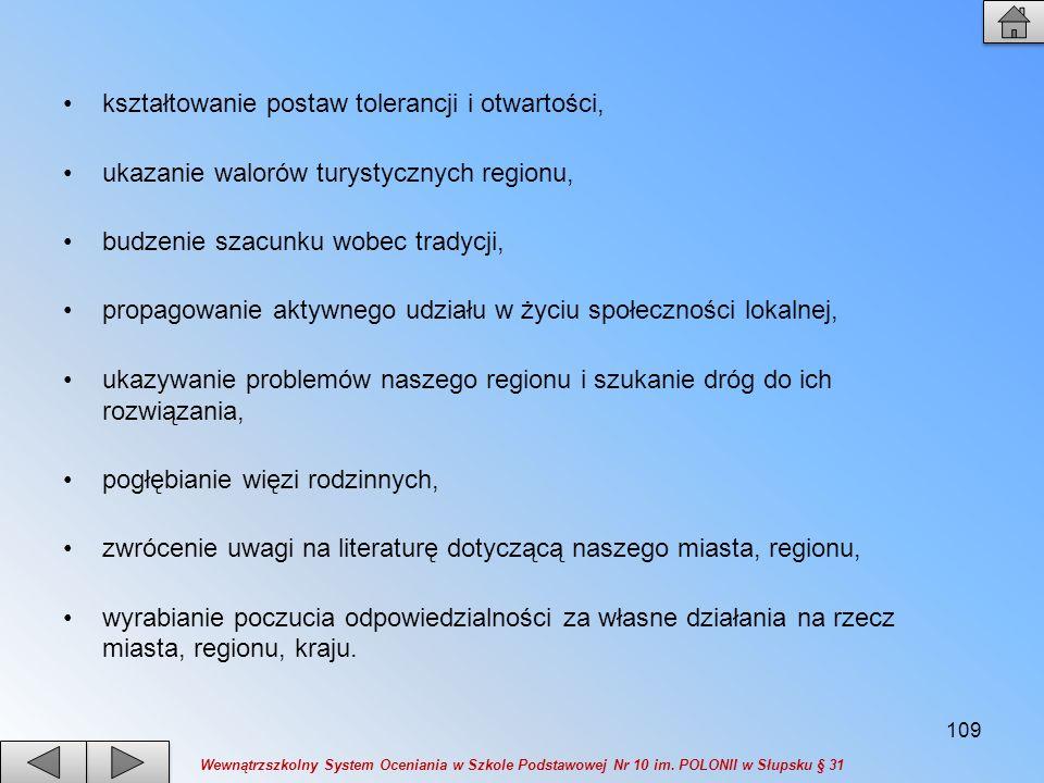 3)Kształtowanie umiejętności wykorzystania ugruntowanej wiedzy do opisu i oceny problemów nurtujących region.