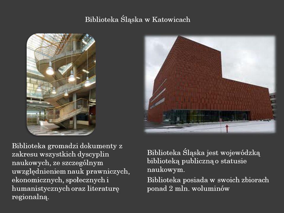 Biblioteka gromadzi dokumenty z zakresu wszystkich dyscyplin naukowych, ze szczególnym uwzględnieniem nauk prawniczych, ekonomicznych, społecznych i h