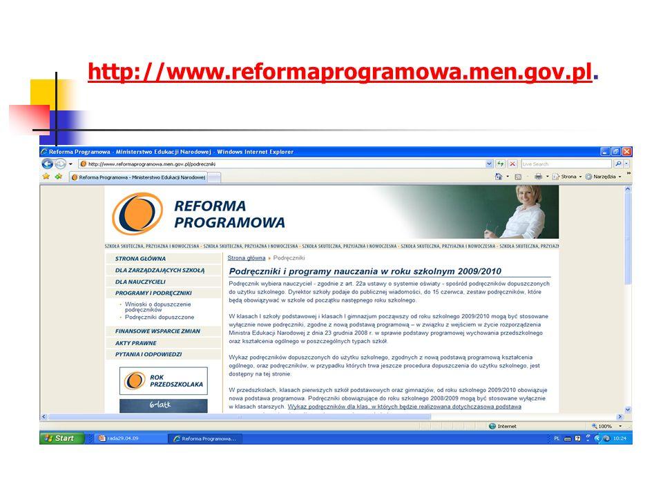 http://www.reformaprogramowa.men.gov.plhttp://www.reformaprogramowa.men.gov.pl.