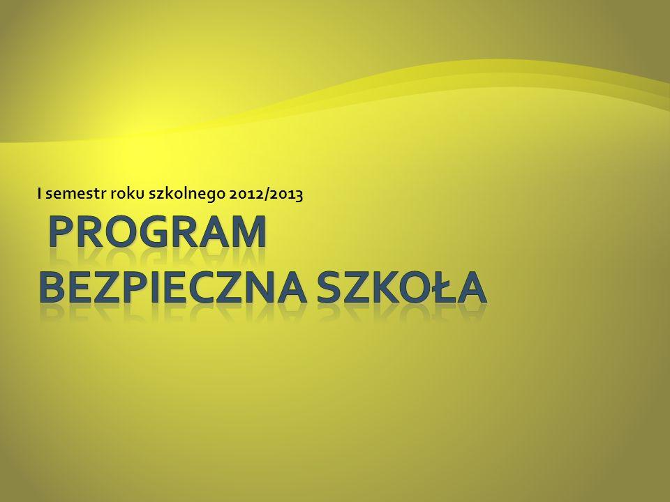 I semestr roku szkolnego 2012/2013