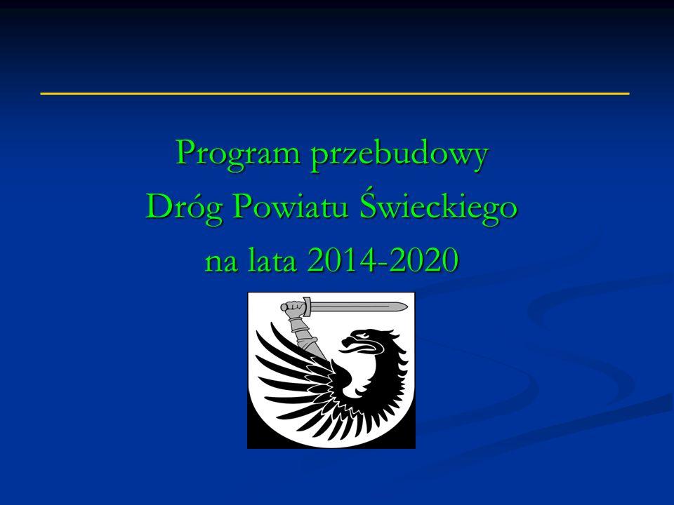 Program przebudowy Dróg Powiatu Świeckiego na lata 2014-2020