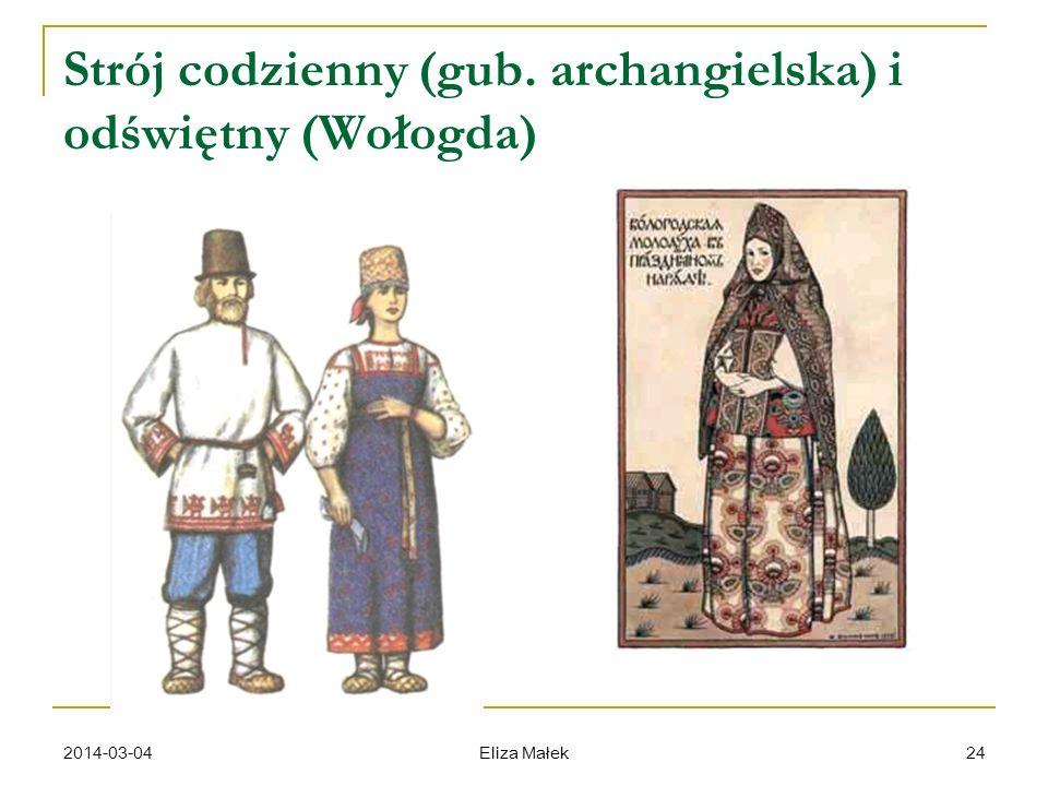 2014-03-04 Eliza Małek 24 Strój codzienny (gub. archangielska) i odświętny (Wołogda)