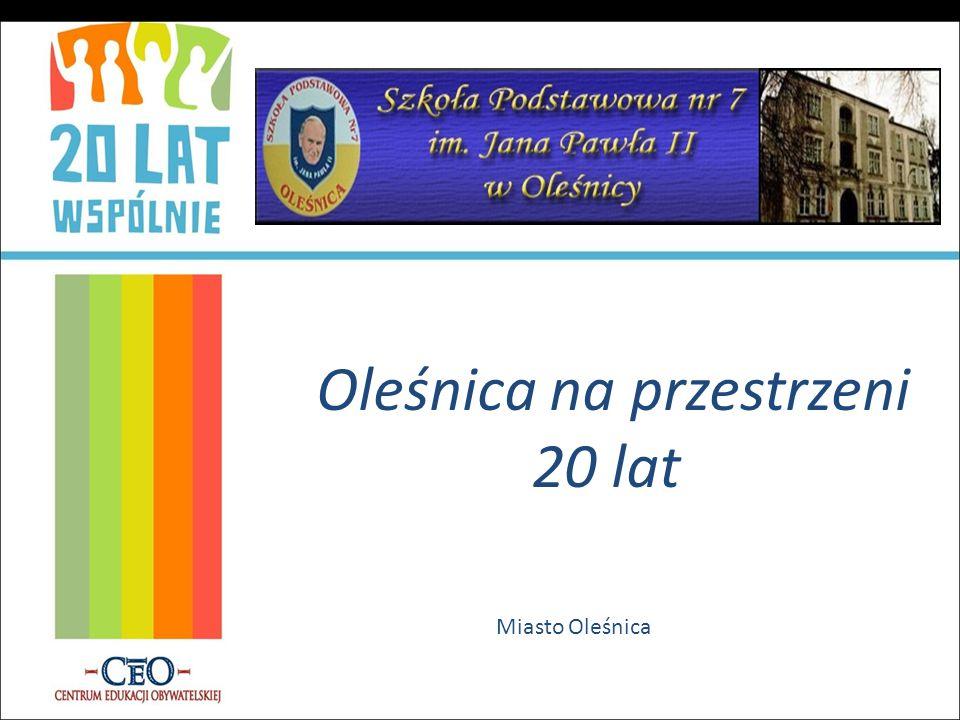 Oleśnica na przestrzeni 20 lat Miasto Oleśnica