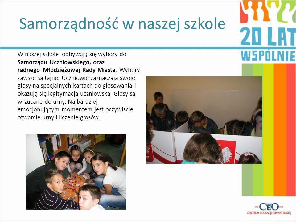 W naszej szkole odbywają się wybory do Samorządu Uczniowskiego, oraz radnego Młodzieżowej Rady Miasta.