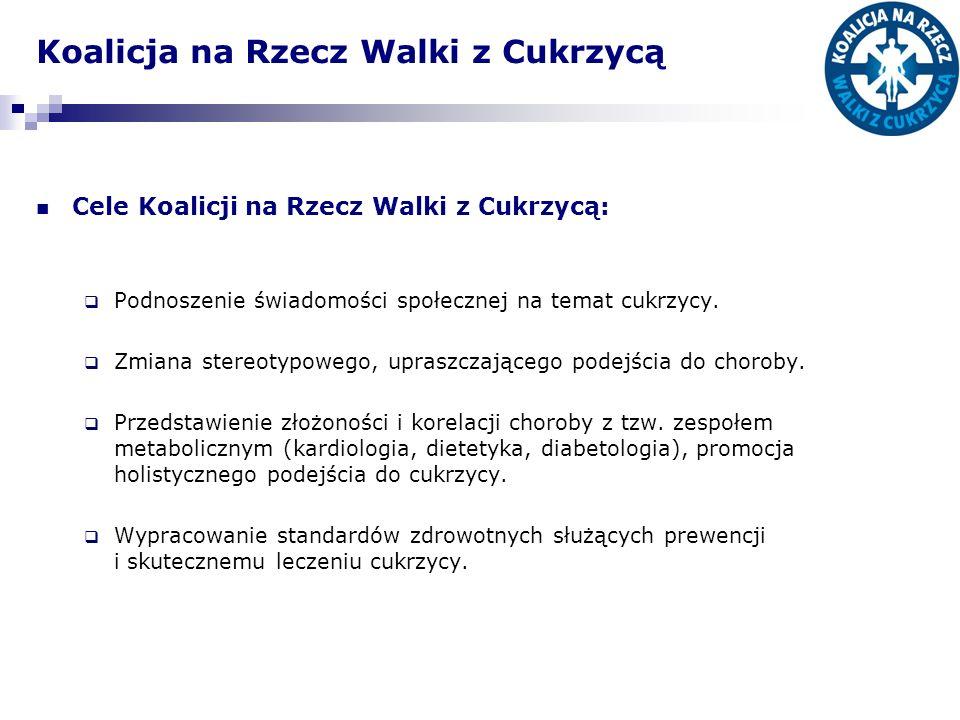 Koalicja na Rzecz Walki z Cukrzycą Zrealizowane działania: Seria szkoleń dla nauczycieli w całej Polsce dot.