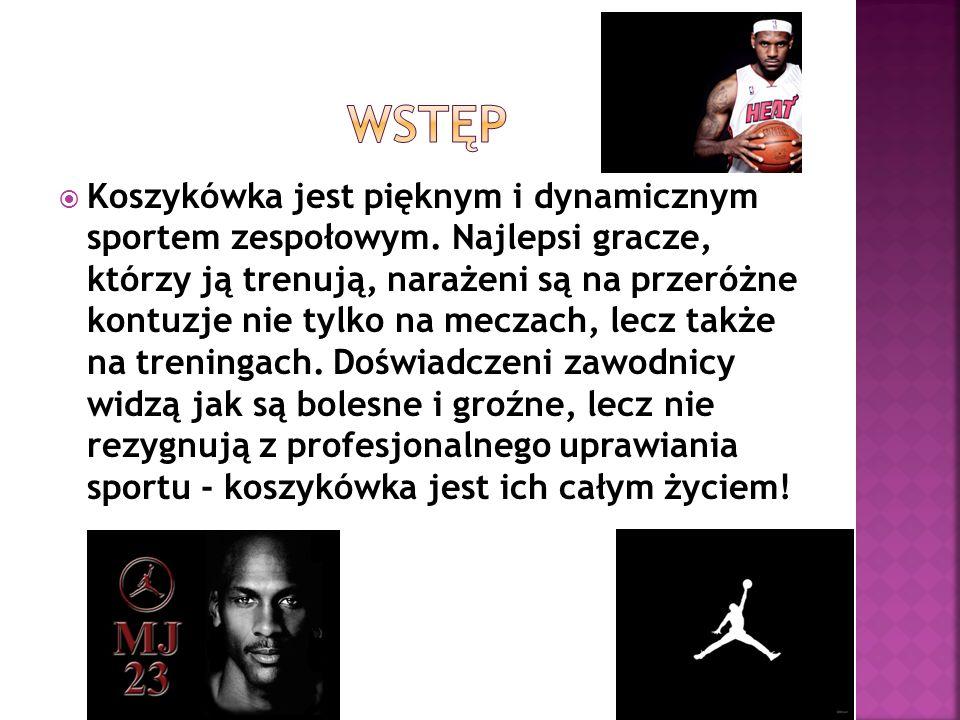 Koszykówka jest pięknym i dynamicznym sportem zespołowym. Najlepsi gracze, którzy ją trenują, narażeni są na przeróżne kontuzje nie tylko na meczach,