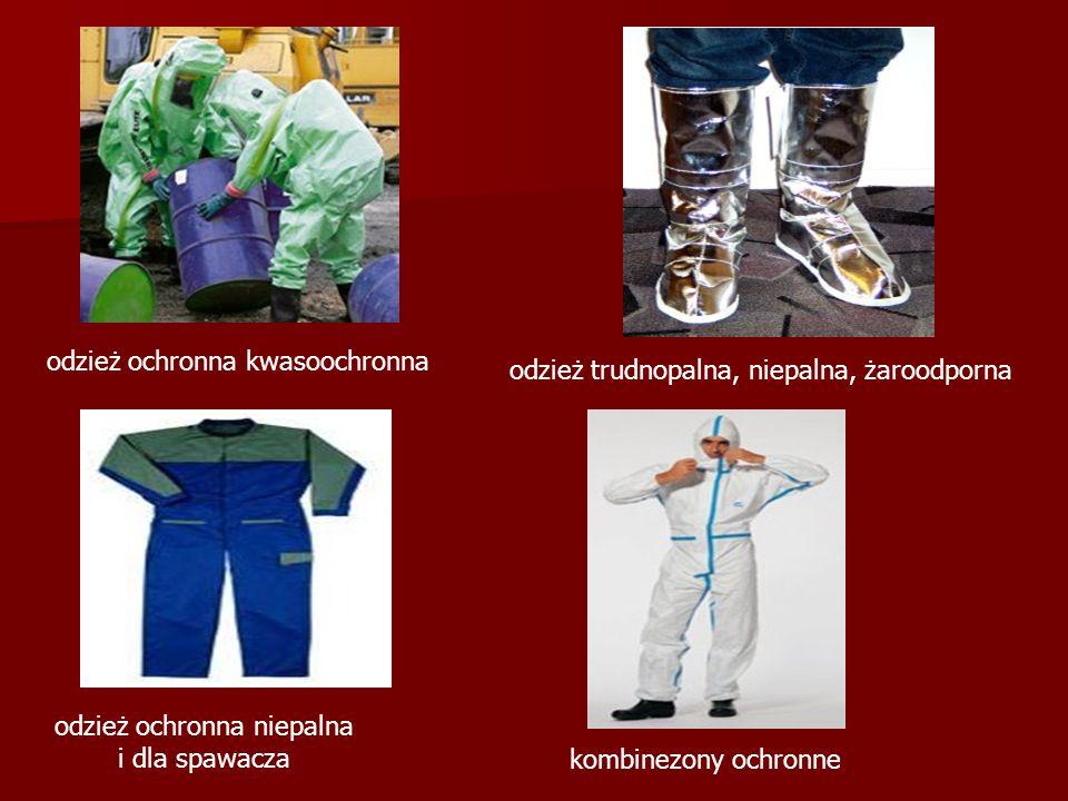 odzież ochronna kwasoochronna odzież ochronna niepalna i dla spawacza odzież trudnopalna, niepalna, żaroodporna kombinezony ochronne