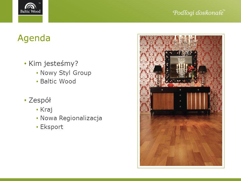 Agenda Kim jesteśmy? Nowy Styl Group Baltic Wood Zespół Kraj Nowa Regionalizacja Eksport