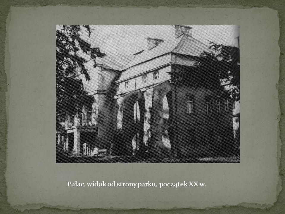 Pałac, widok od strony parku, początek XX w.