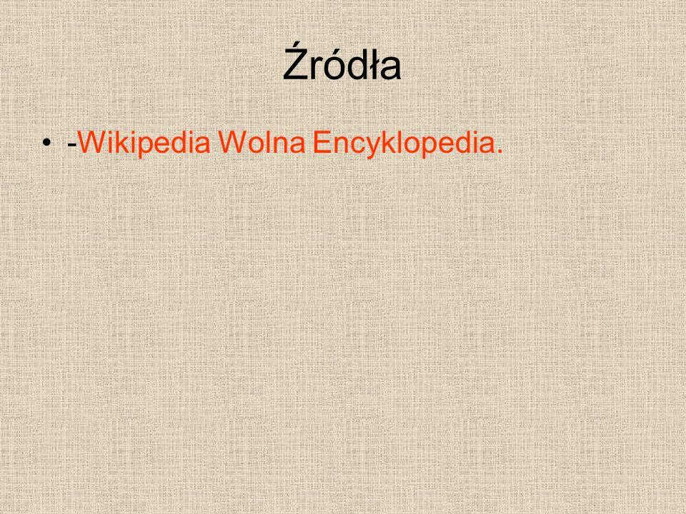 Źródła -Wikipedia Wolna Encyklopedia.