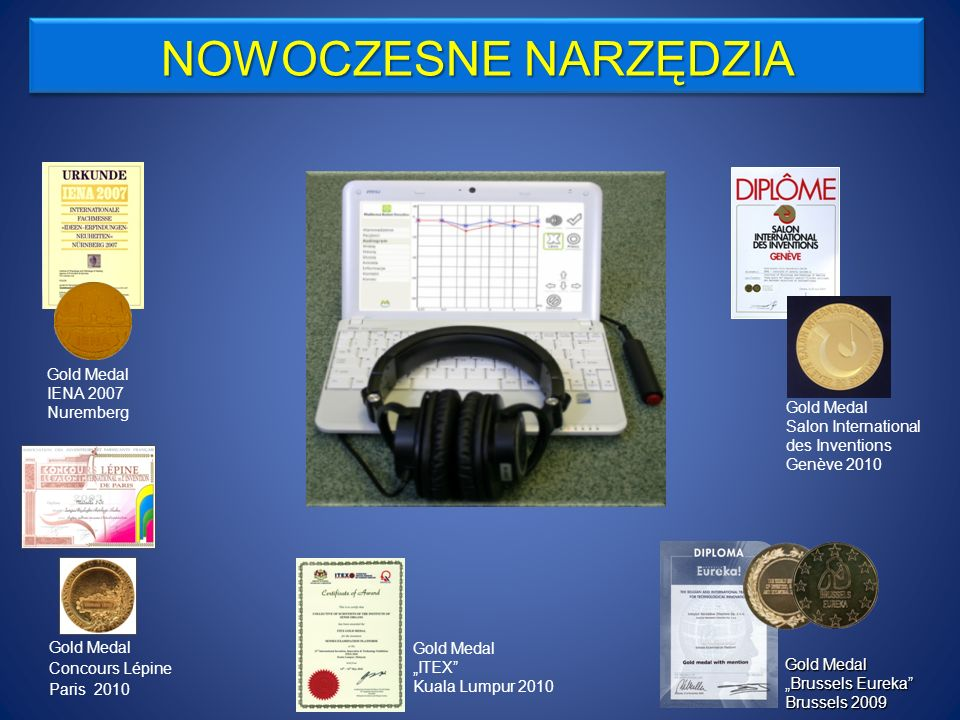 Gold Medal with Mention, BRUSSELS EUREKA during 58th International Exhibition of Innovation, Research and New Technologies BRUSSELS INNOVA 2009, Brussels 2009.