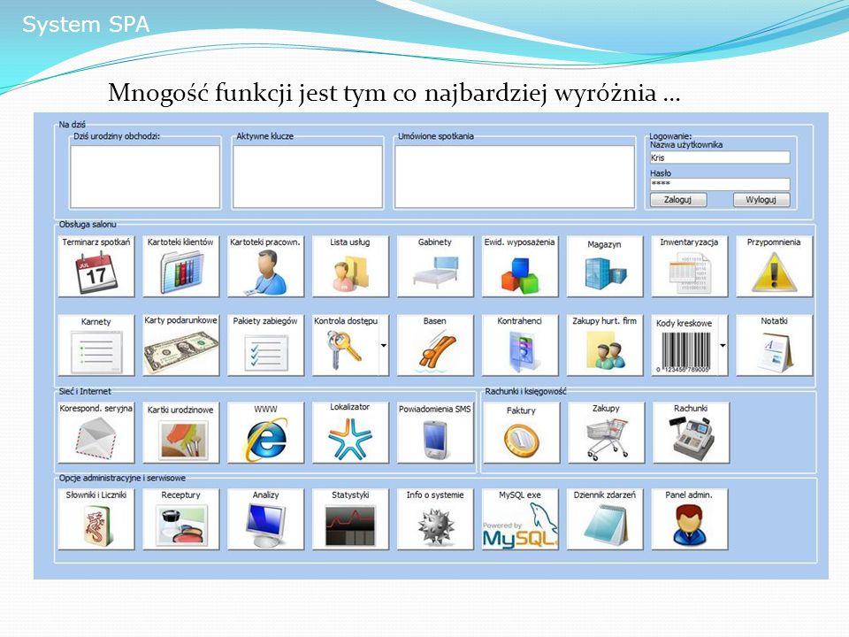 System SPA Mnogość funkcji jest tym co najbardziej wyróżnia …