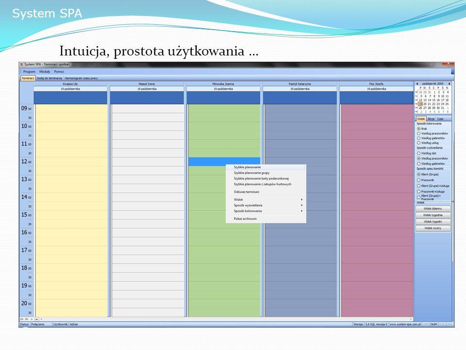 System SPA Intuicja, prostota użytkowania …