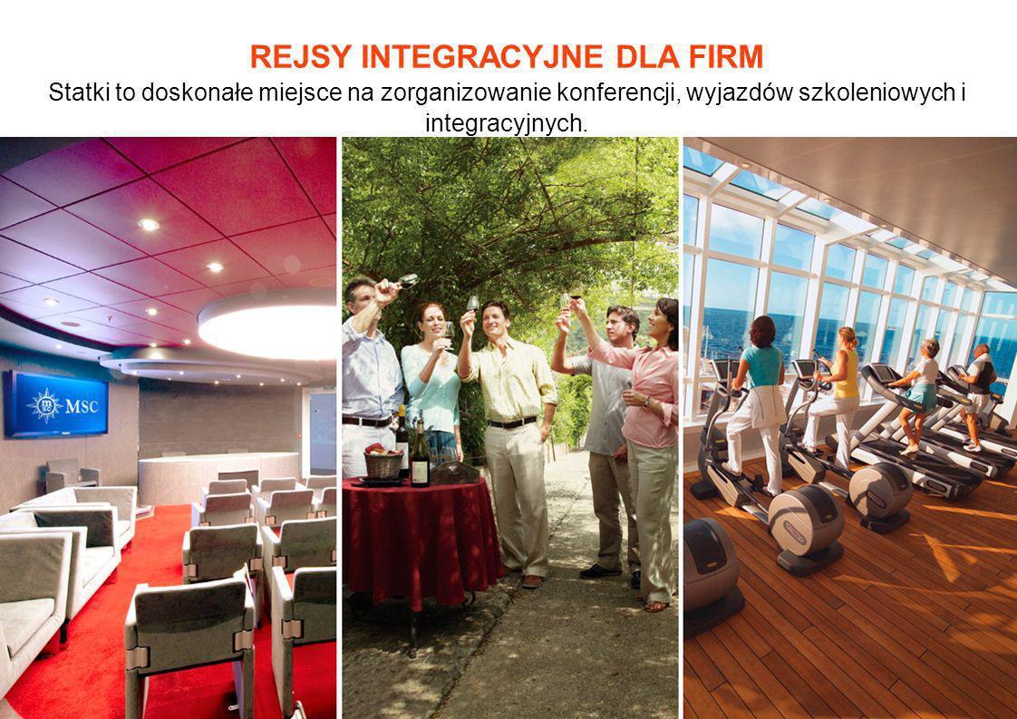 REJSY INTEGRACYJNE DLA FIRM Statki to doskonałe miejsce na zorganizowanie konferencji, wyjazdów szkoleniowych i integracyjnych.