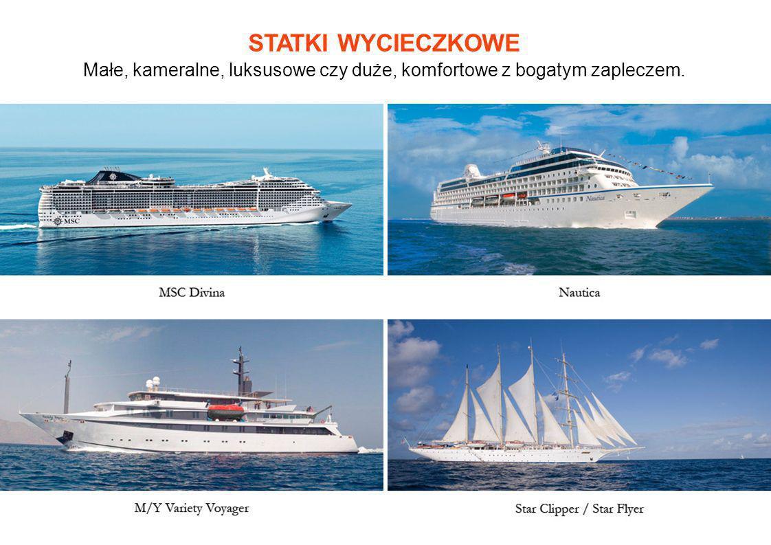 KOMFORTOWE KABINY Kabiny na statkach dzielą się na wewnętrzne, zewnętrzne z oknem, a coraz częściej także z balkonem.