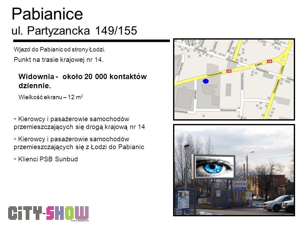 Pabianice ul. Partyzancka 149/155 Wjazd do Pabianic od strony Łodzi.