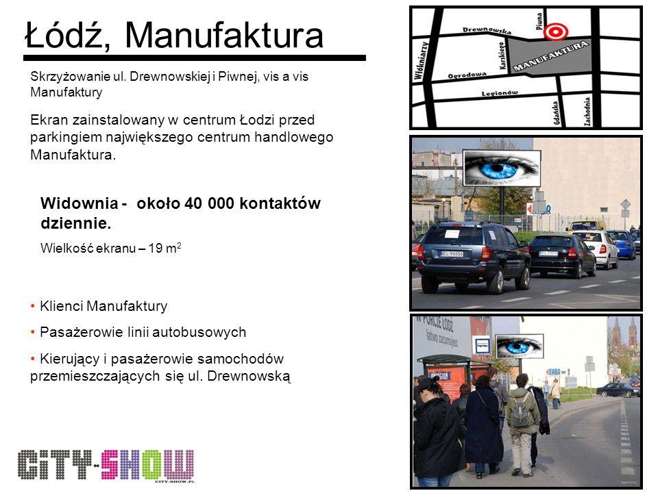 Łódź, Manufaktura Skrzyżowanie ul.