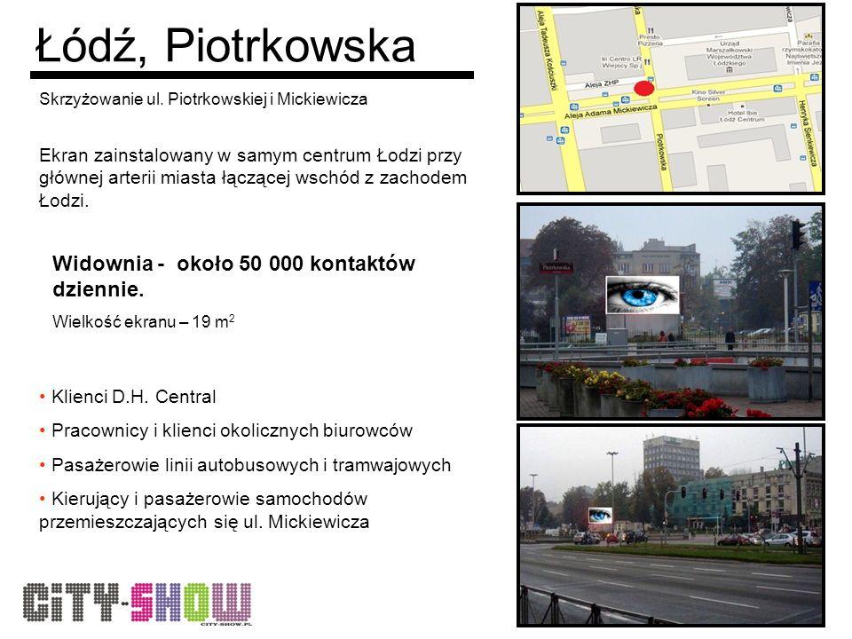 Łódź, Piotrkowska Skrzyżowanie ul.