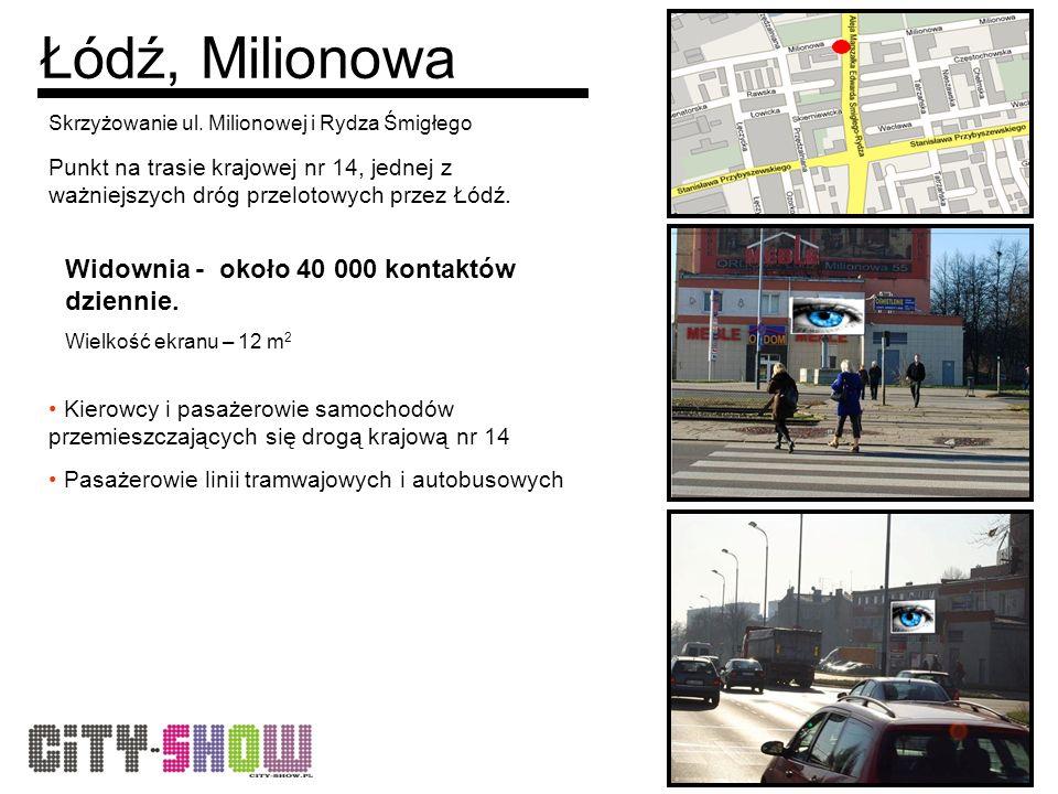 Łódź, Milionowa Skrzyżowanie ul.
