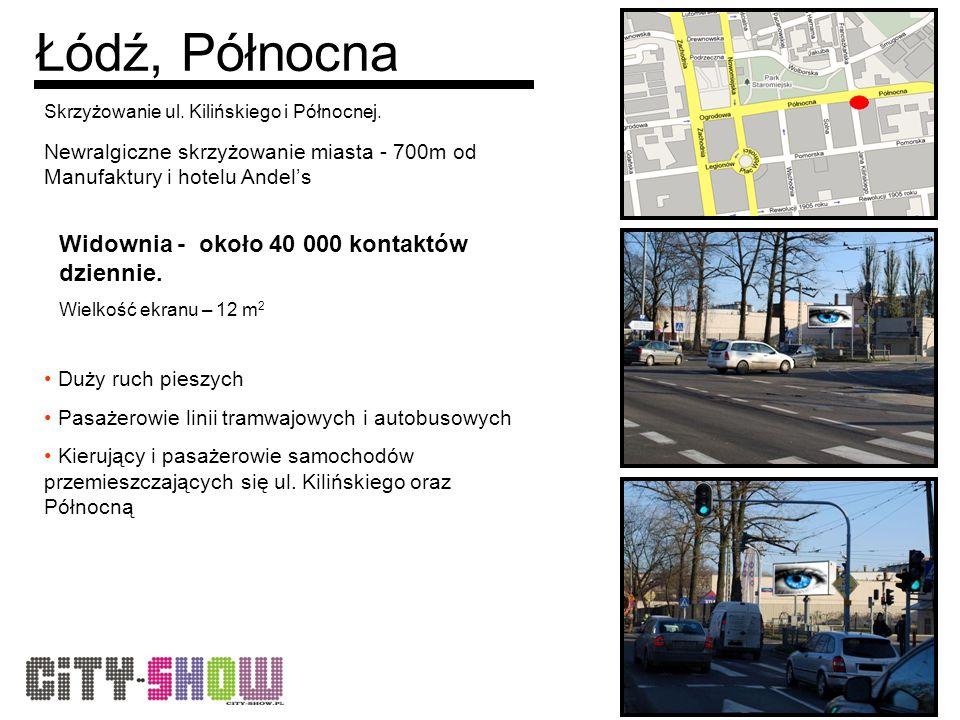 Łódź, Północna Skrzyżowanie ul. Kilińskiego i Północnej.