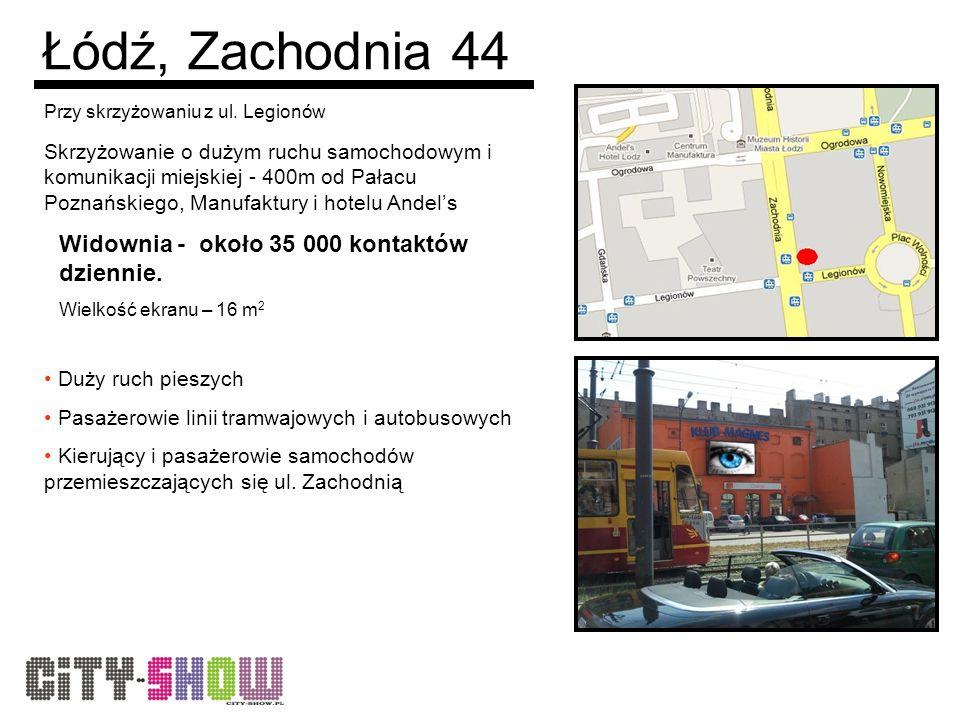 Łódź, Zachodnia 44 Przy skrzyżowaniu z ul.