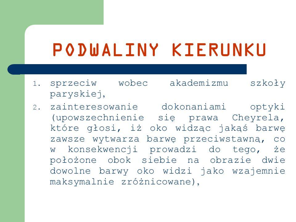 IMPRESJONI Ś CI POLSCY We francuskiej wersji kierunek został przeniesiony do Polski przez Józefa Pankiewicza i Władysława Podkowińskiego, bliskie impresjonizmowi było malarstwo Aleksandra Gierymskiego, Olgi Boznańskiej, Leona Wyczółkowskiego.