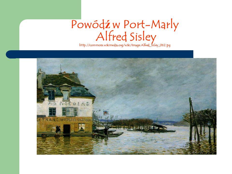 Powód ź w Port-Marly Alfred Sisley http://commons.wikimedia.org/wiki/Image:Alfred_Sisley_062.jpg