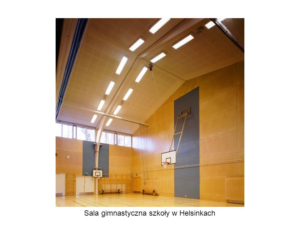 Sala gimnastyczna szkoły w Helsinkach