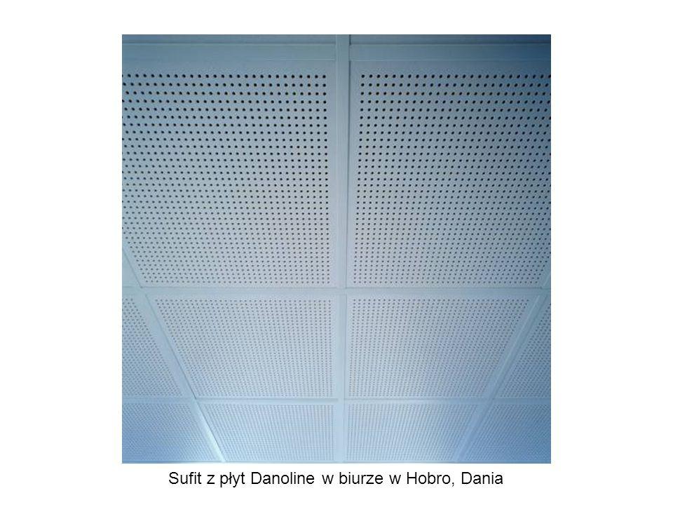 Sufit z płyt Danoline w biurze w Hobro, Dania