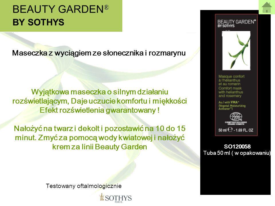 BEAUTY GARDEN ® BY SOTHYS Wyjątkowa maseczka o silnym działaniu rozświetlającym, Daje uczucie komfortu i miękkości Efekt rozświetlenia gwarantowany !