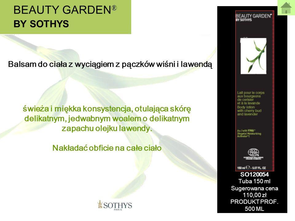 BEAUTY GARDEN ® BY SOTHYS świeża i miękka konsystencja, otulająca skórę delikatnym, jedwabnym woalem o delikatnym zapachu olejku lawendy. Nakładać obf
