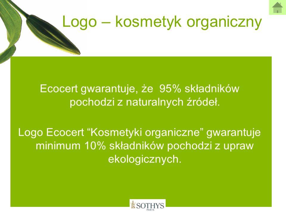 Logo – kosmetyk organiczny Ecocert gwarantuje, że 95% składników pochodzi z naturalnych źródeł. Logo Ecocert Kosmetyki organiczne gwarantuje minimum 1