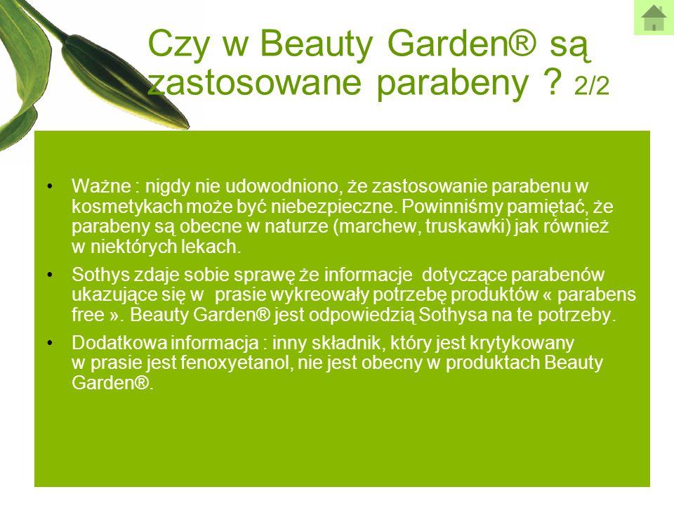Ważne : nigdy nie udowodniono, że zastosowanie parabenu w kosmetykach może być niebezpieczne. Powinniśmy pamiętać, że parabeny są obecne w naturze (ma