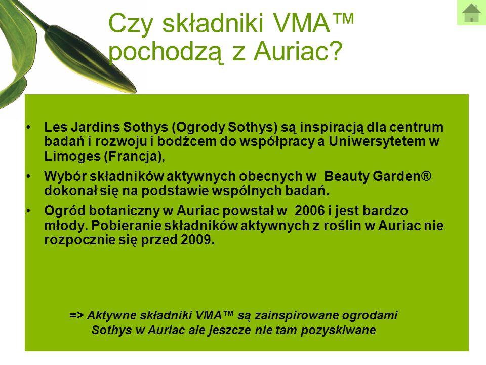 Czy składniki VMA pochodzą z Auriac? Les Jardins Sothys (Ogrody Sothys) są inspiracją dla centrum badań i rozwoju i bodźcem do współpracy a Uniwersyte