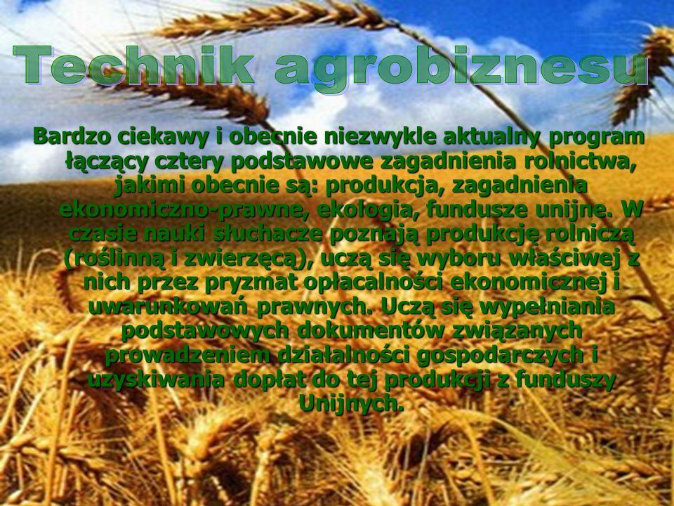 Bardzo ciekawy i obecnie niezwykle aktualny program łączący cztery podstawowe zagadnienia rolnictwa, jakimi obecnie są: produkcja, zagadnienia ekonomi