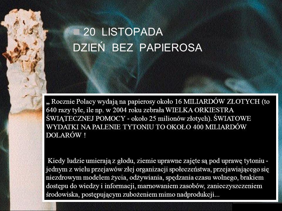 Rocznie Polacy wydają na papierosy około 16 MILIARDÓW ZŁOTYCH (to 640 razy tyle, ile np.