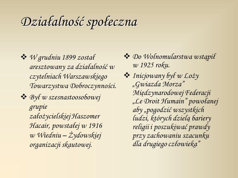 Działalność literacka Opublikował utwory: Dziecko salonu, Koszałki Opałki, czy Józki, Jaśki i Franki.