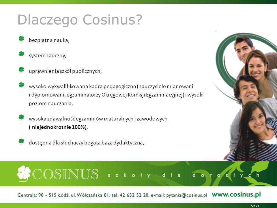 Dlaczego Cosinus.