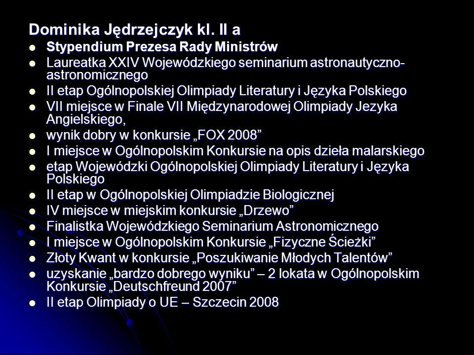 Dominika Jędrzejczyk kl.