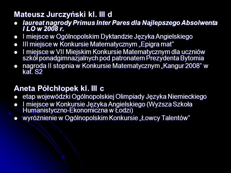 Mateusz Jurczyński kl.