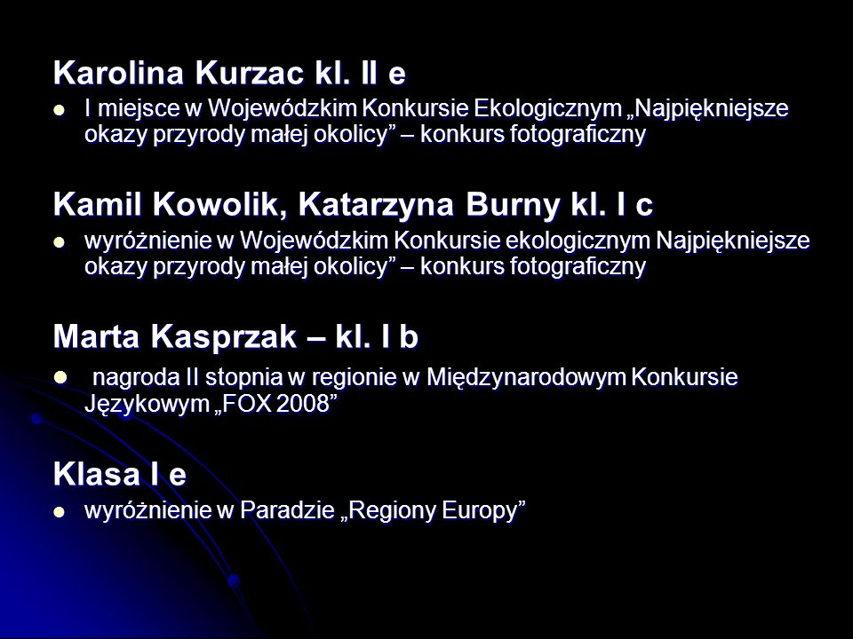 Karolina Kurzac kl.