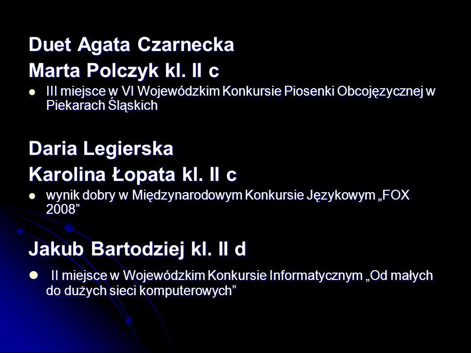 Duet Agata Czarnecka Marta Polczyk kl.