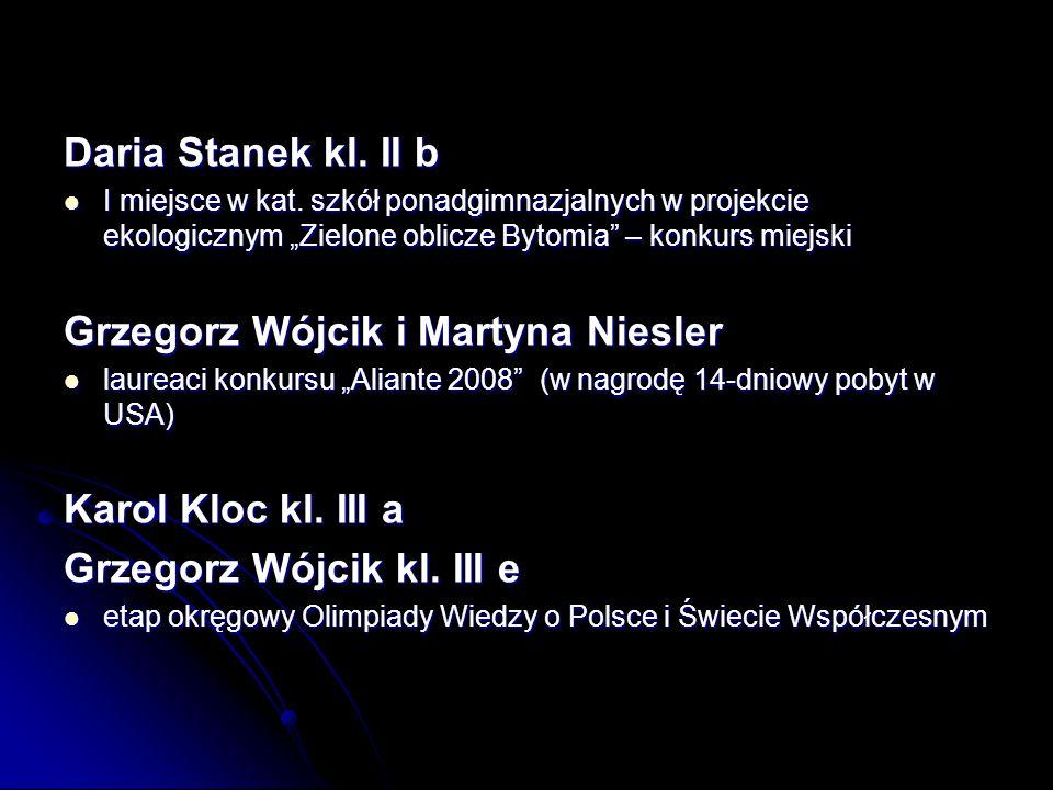 Daria Stanek kl.II b I miejsce w kat.