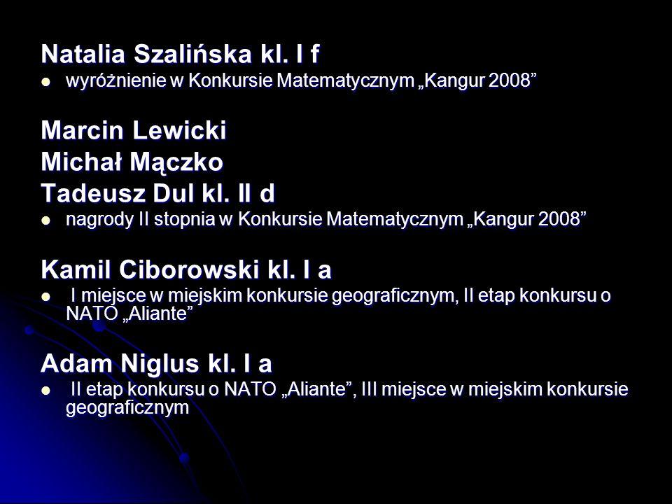 Natalia Szalińska kl.