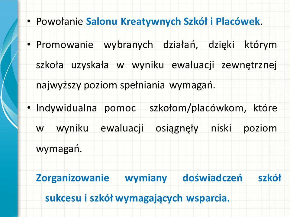 Powołanie Salonu Kreatywnych Szkół i Placówek.