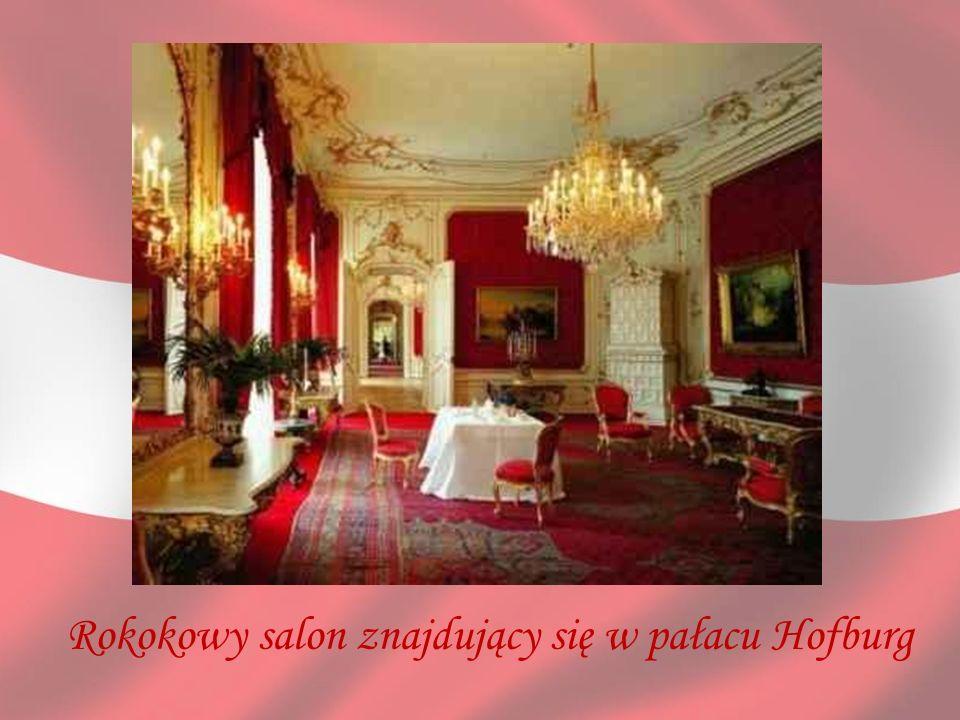 Rokokowy salon znajdujący się w pałacu Hofburg