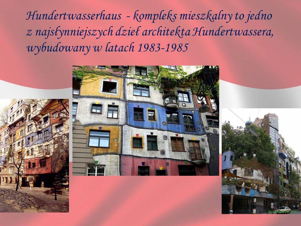 Hundertwasserhaus - kompleks mieszkalny to jedno z najsłynniejszych dzieł architekta Hundertwassera, wybudowany w latach 1983-1985