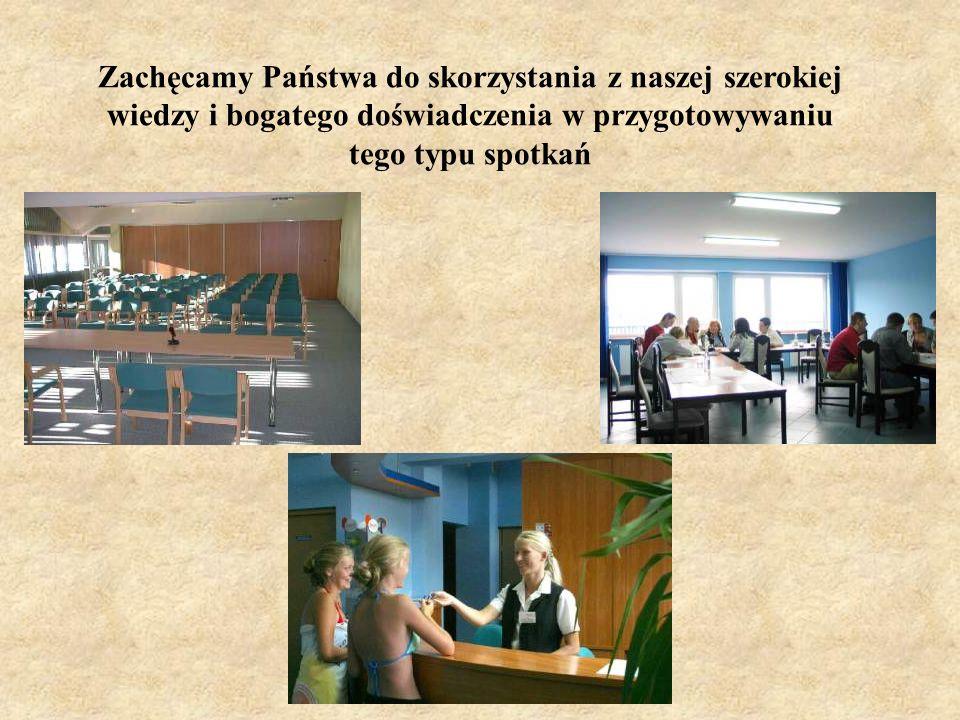 Nasz Ośrodek specjalizuje się w organizowaniu szkoleń i konferencji. W związku z tym oferujemy Państwu 4 sale konferencyjne o łącznej powierzchni pona