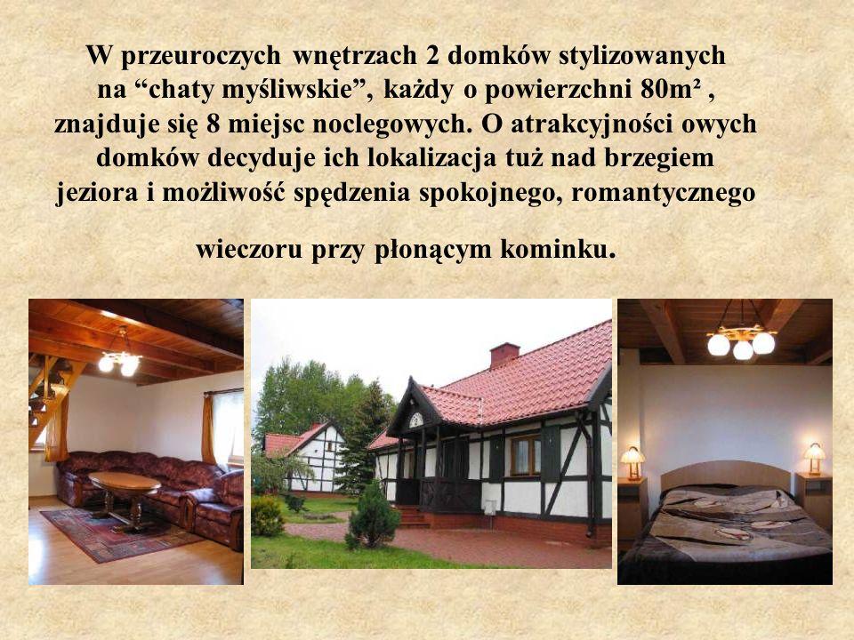 Dla gości preferujących bliski kontakt z przyrodą oraz wypoczynek w kameralnych warunkach, proponujemy 20 nowoczesnych domków typu Bliźniak dla 3 do 5