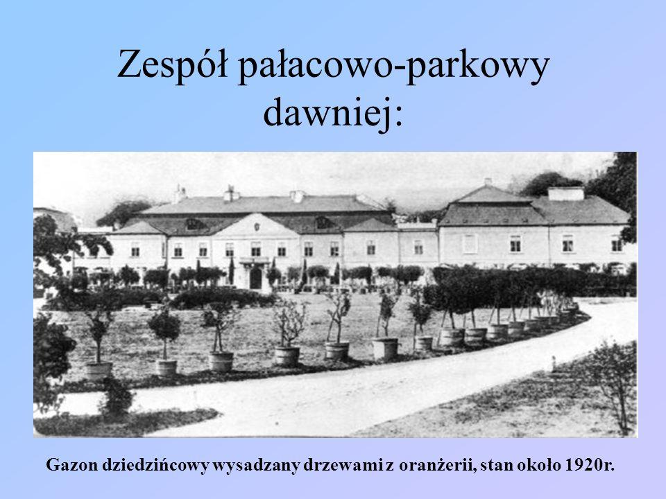 Elewacja południowa pałacu, około 1930r.